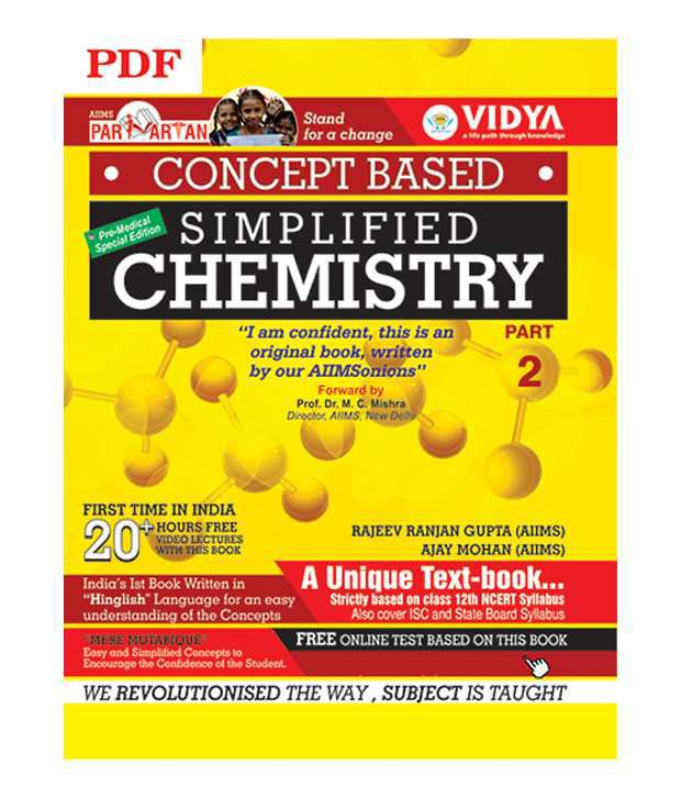 Concept Based Simplified Chemistry Part-2(Downloadable PDF) by Vidya  Downloadable Content