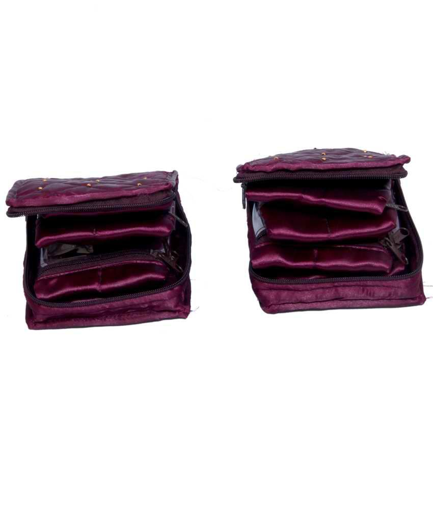 Kuber Industries Jewellery Kit in satin 2 Pcs Combo