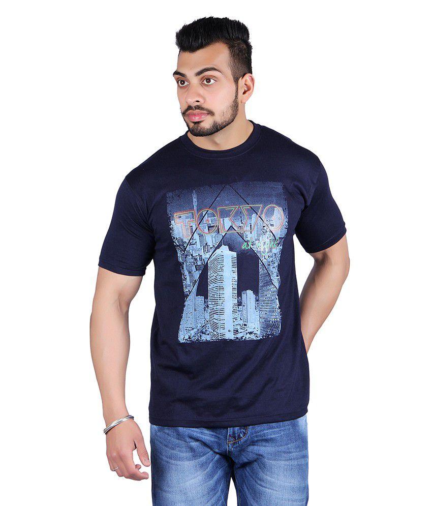 Shineway Graphic Navy T-Shirts