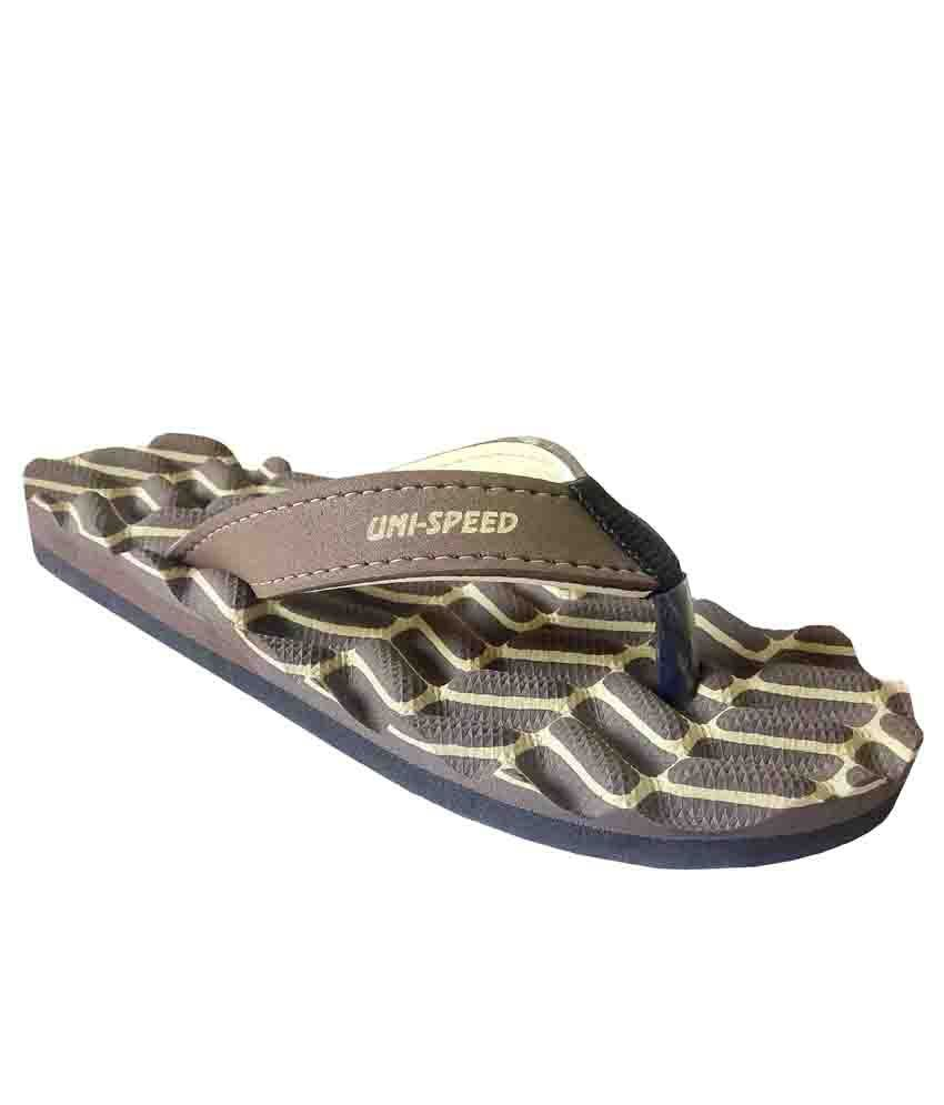 Unispeed Accupressure + Foot Massage Flipflops (Brn)
