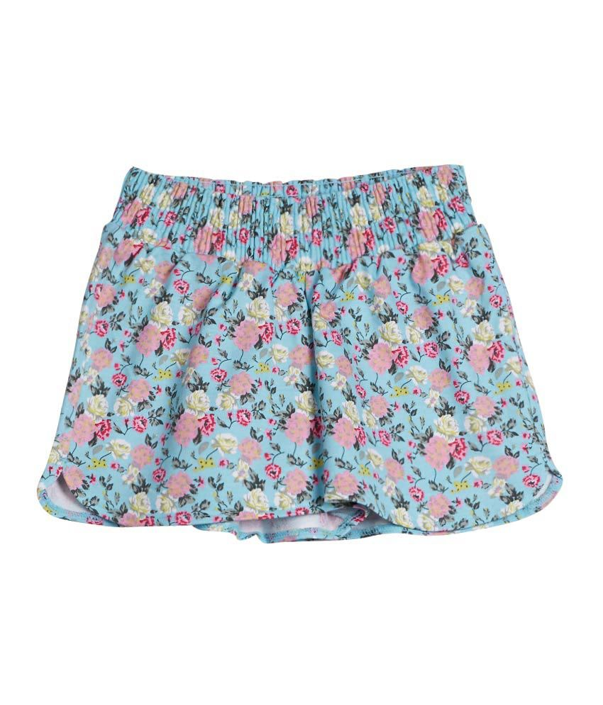 United Colors of Benetton Printed Aqua Casual Light Weight Printed Hot Shorts