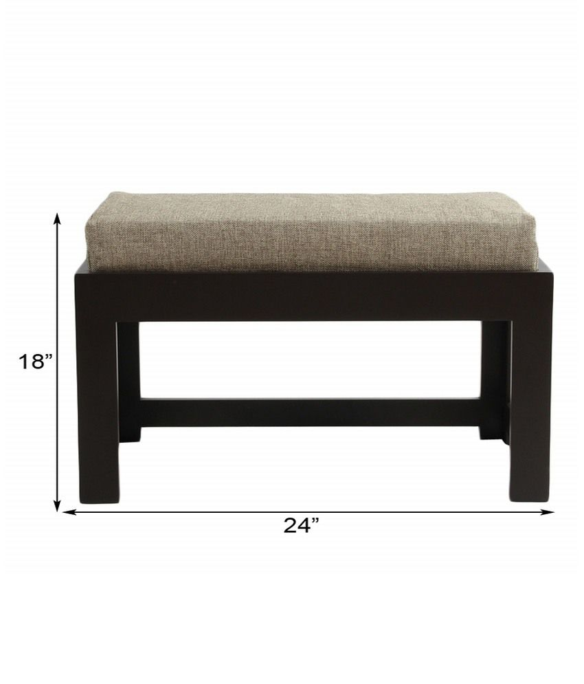 Arra Rectangular Coffee Table With 2 Cushioned Stools Jute