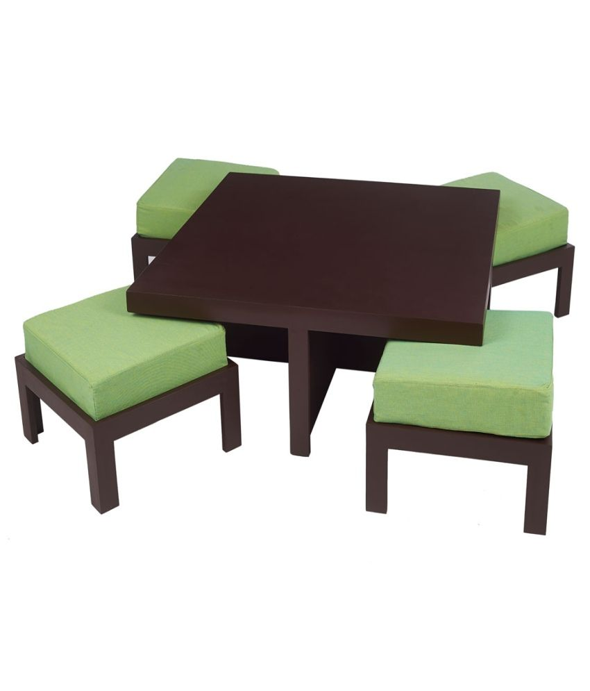 Arra trendy coffee table with four stools fluorescent for Coffee tables trendy