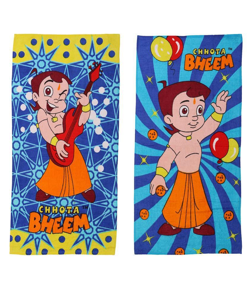 Chhota Bheem Blue Baby themes 2 Towels