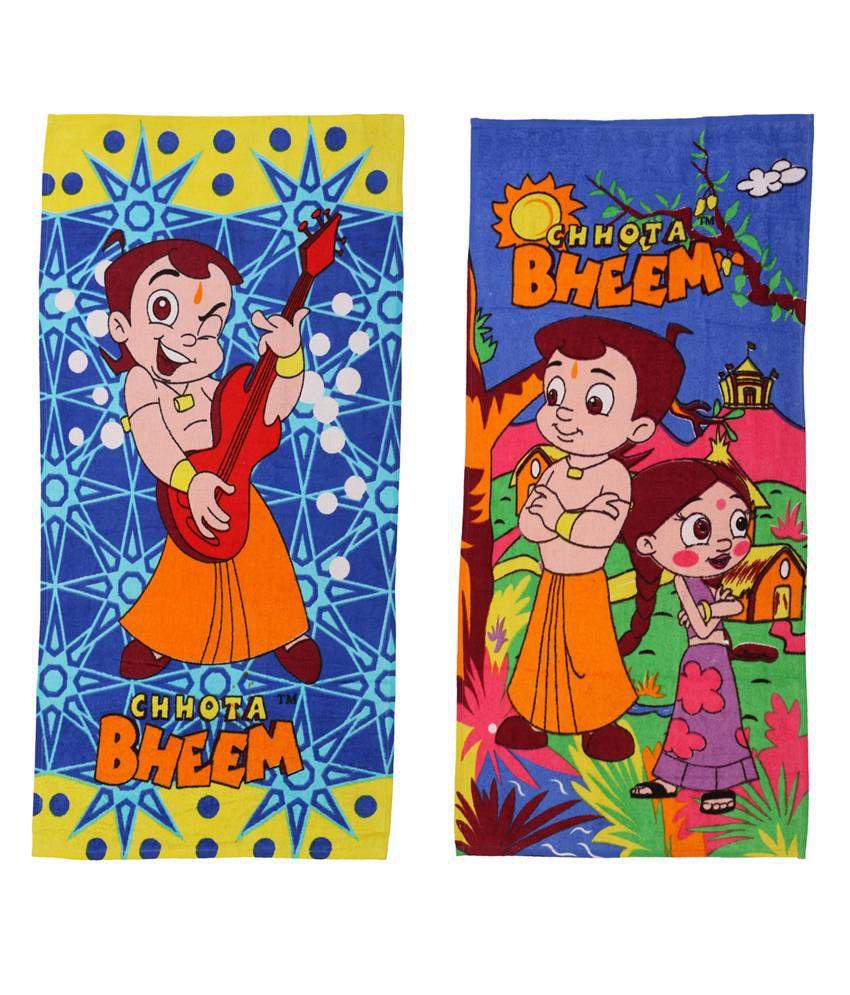 Chhota Bheem Blue & Pink Baby themes 2 Towels