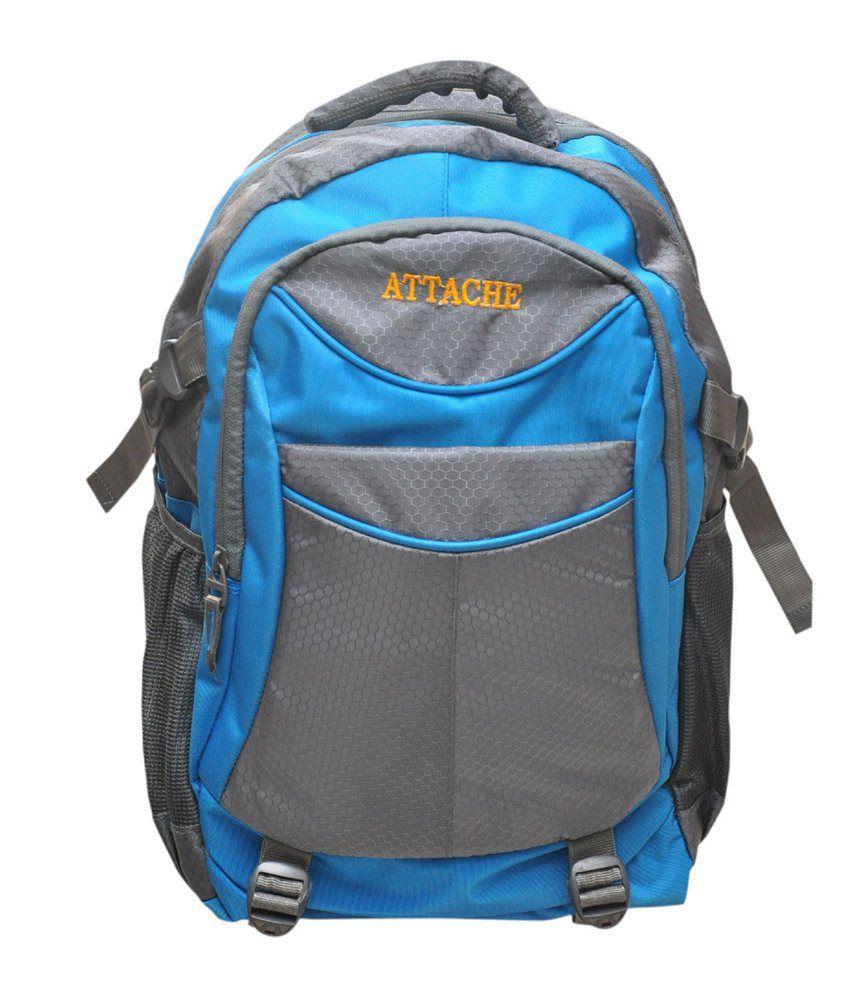Attache Blue Polyester School Bag