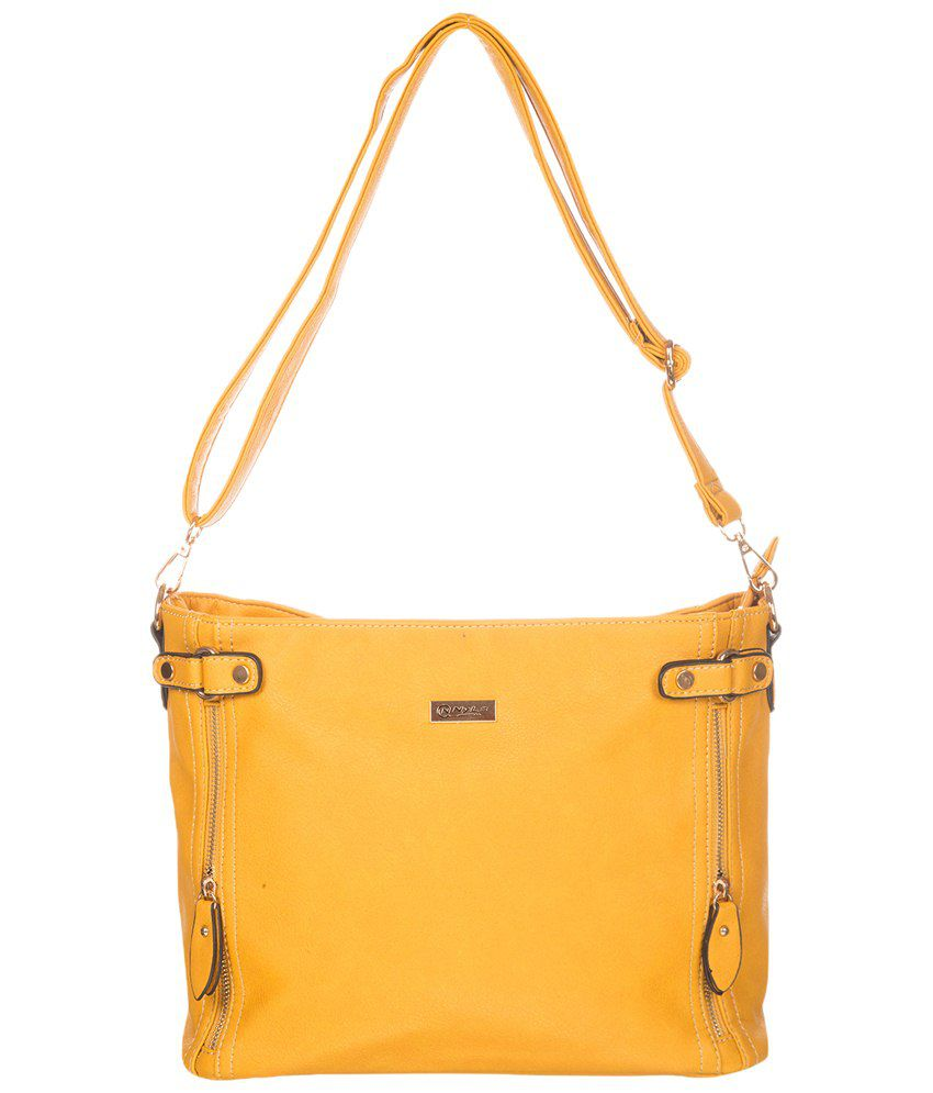 Nyls NC-202-Mustard Yellow Shoulder Bags