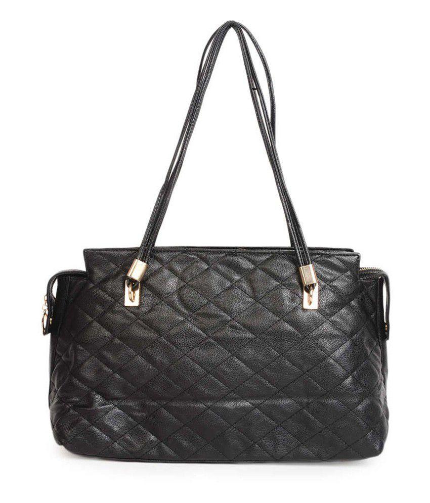 ADISA Black P.U. Shoulder Bag