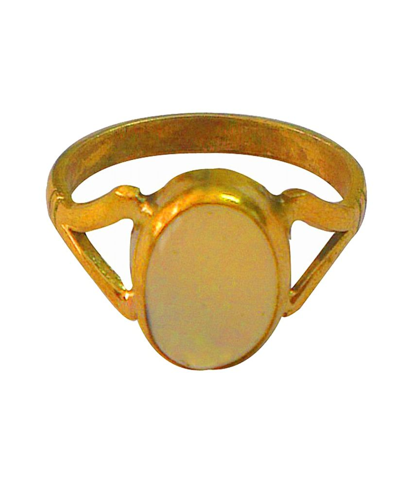 Asian Gems & Jewels Cultured Opal Finger Ring (Panch Dhaatu) Of 4.25 Ratti