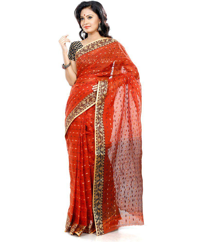 B3Fashions Multi Color Cotton Bengal Tant Saree
