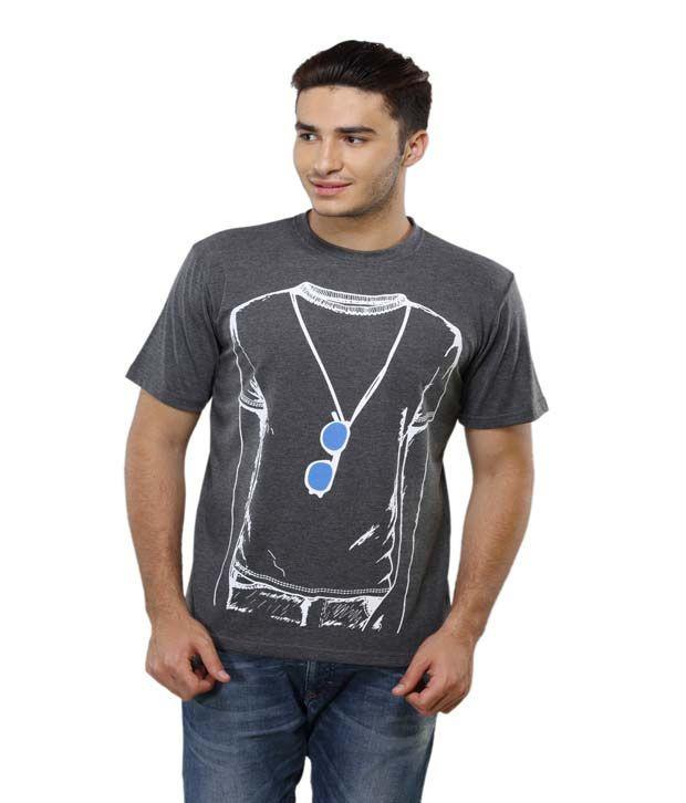 Delhi Daredevils Multi Printed Cotton Round Neck T-shirt