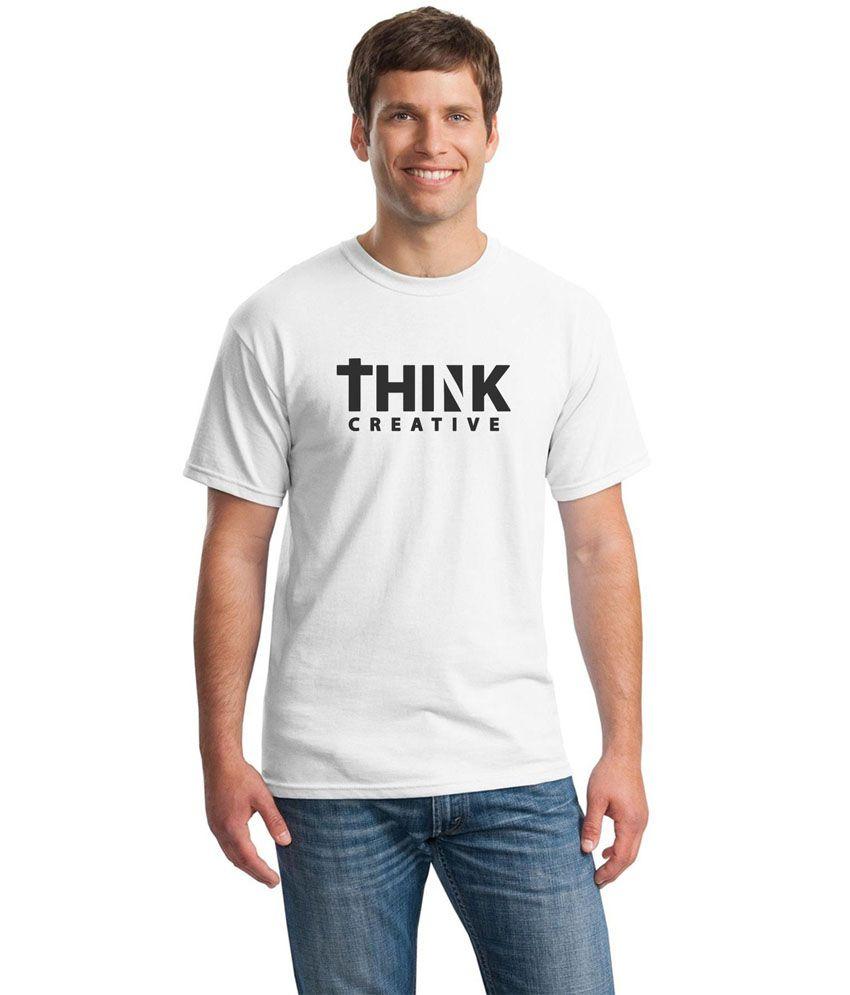 Inkvink Clothing White Cotton Round Neck Printed Half Sleeves T-Shirt
