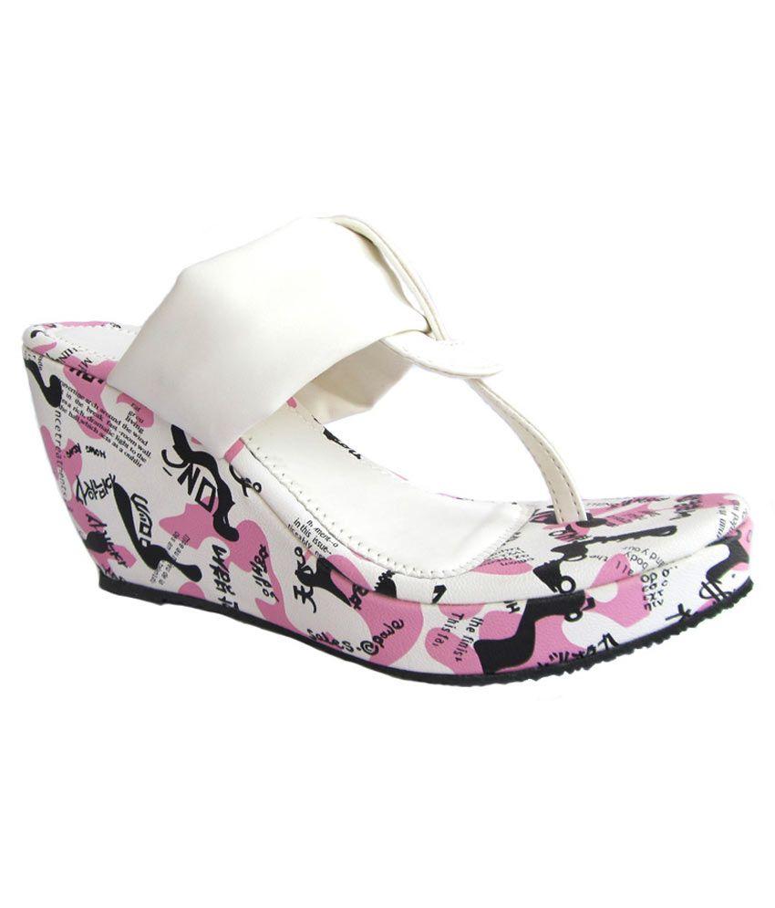 Shining Pearl Style Catwalk Designer Comfort Pink White