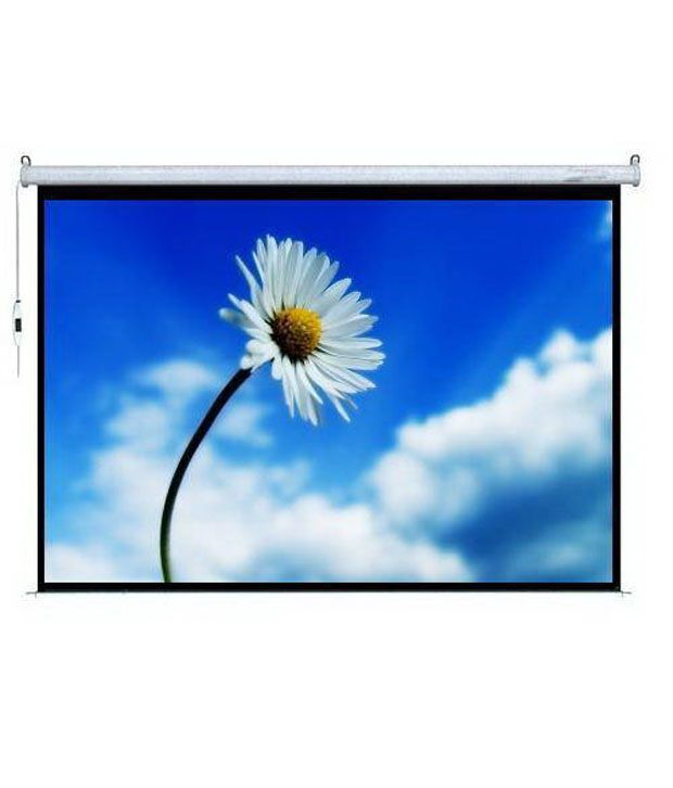 c3ecaa5f5160a3 Buy Telon Motorised Projector Screen Size: 96X54/244 cmX140 cm In 16:9 Video  Format In Imported Matt White Fabric With Remote(8 x 4.6 Feet) Online at  Best ...