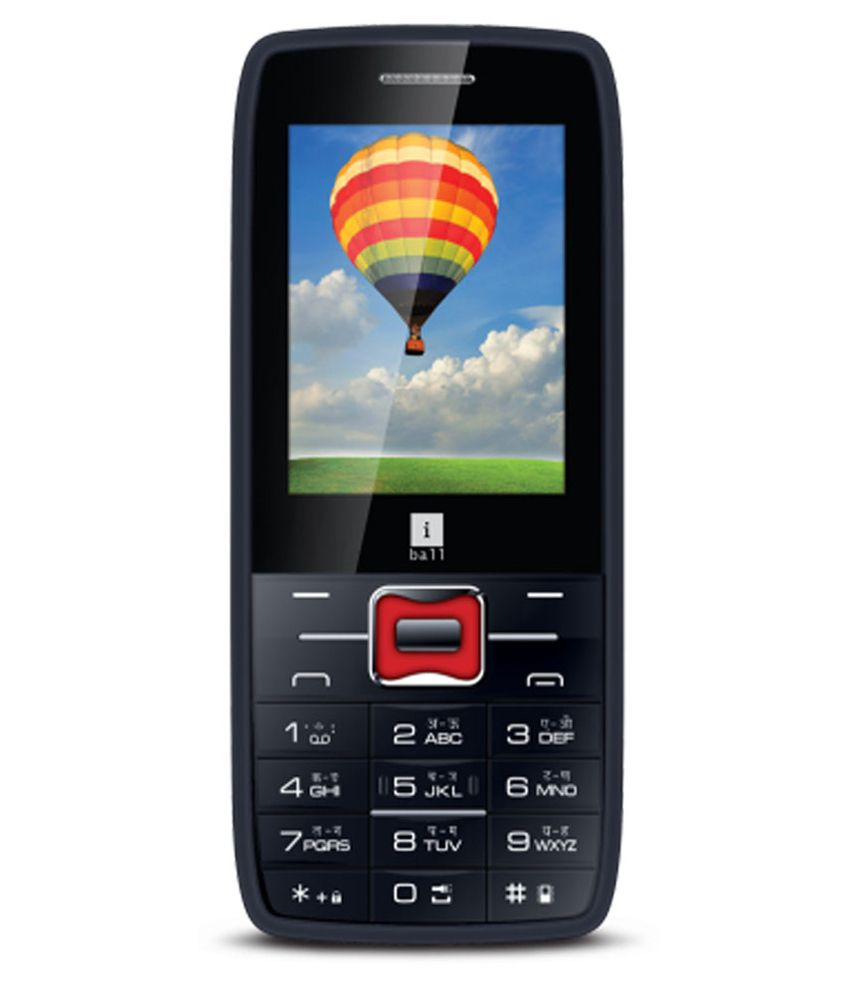 iBall MultiSim Majestic 2.4D Black & Orange