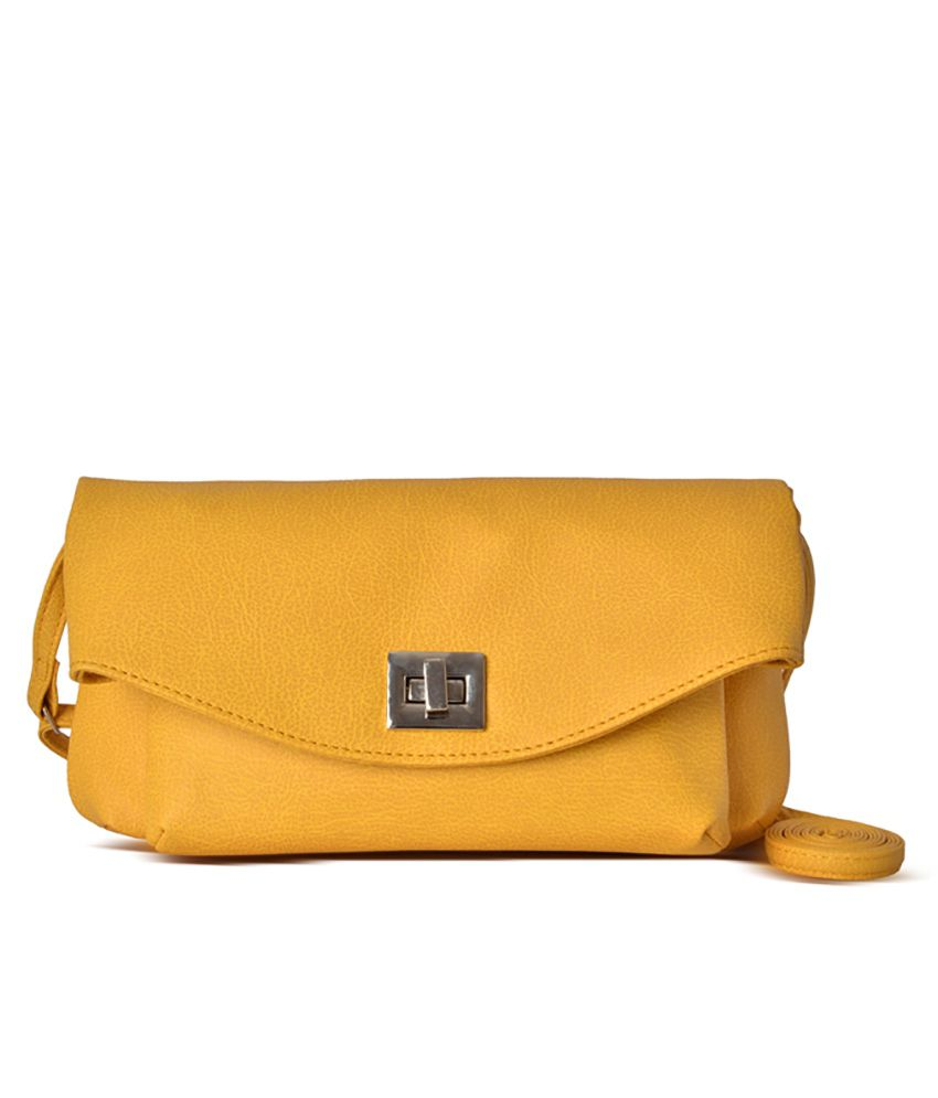 2cbc22975464 Baggit Yellow Sling Bag - Buy Baggit Yellow Sling Bag Online at Best Prices  in India on Snapdeal