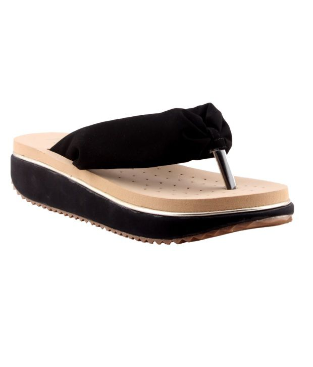 HM Black Back Open Round Toe Sandal