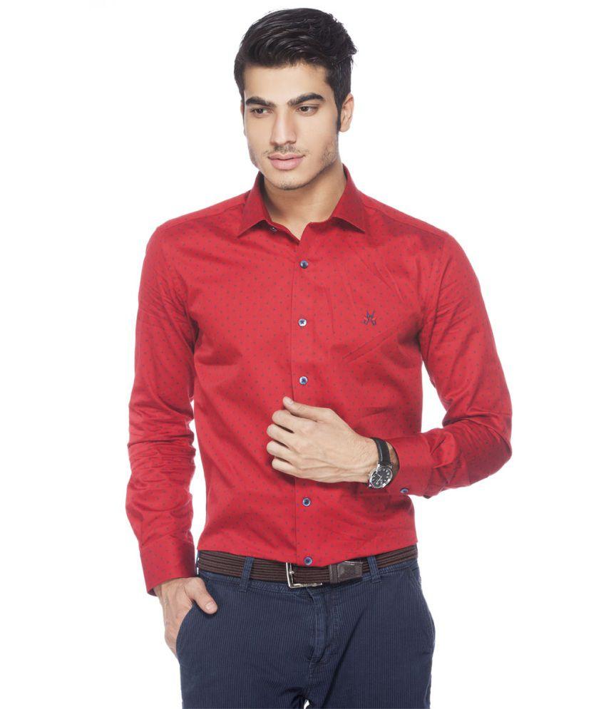 Crimsoune Club MA3585 Red Formal Shirt