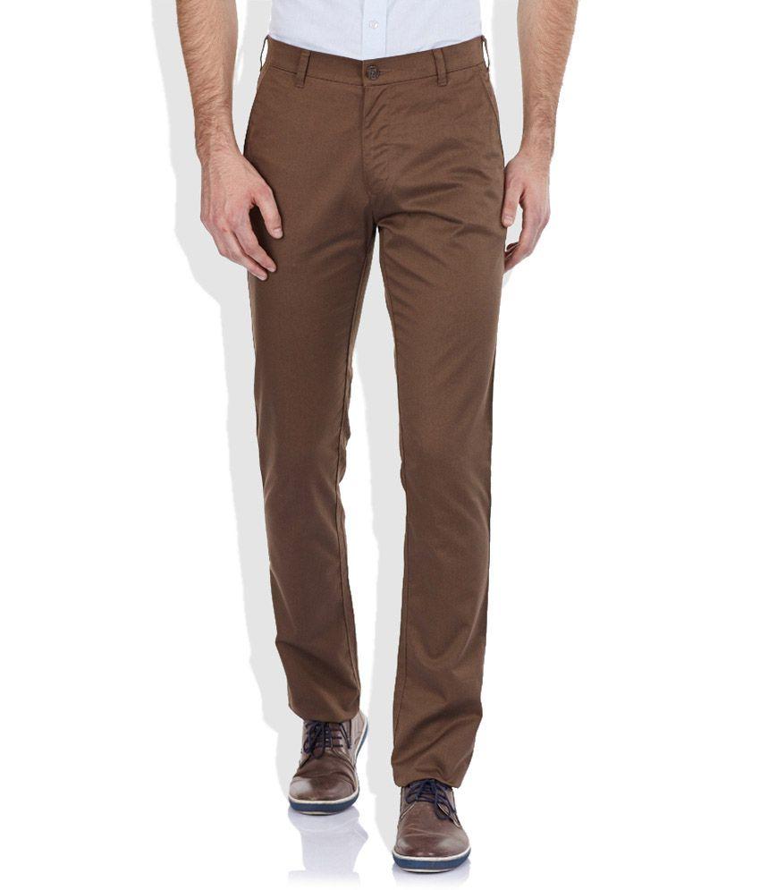 Colorplus Brown Slim Trouser