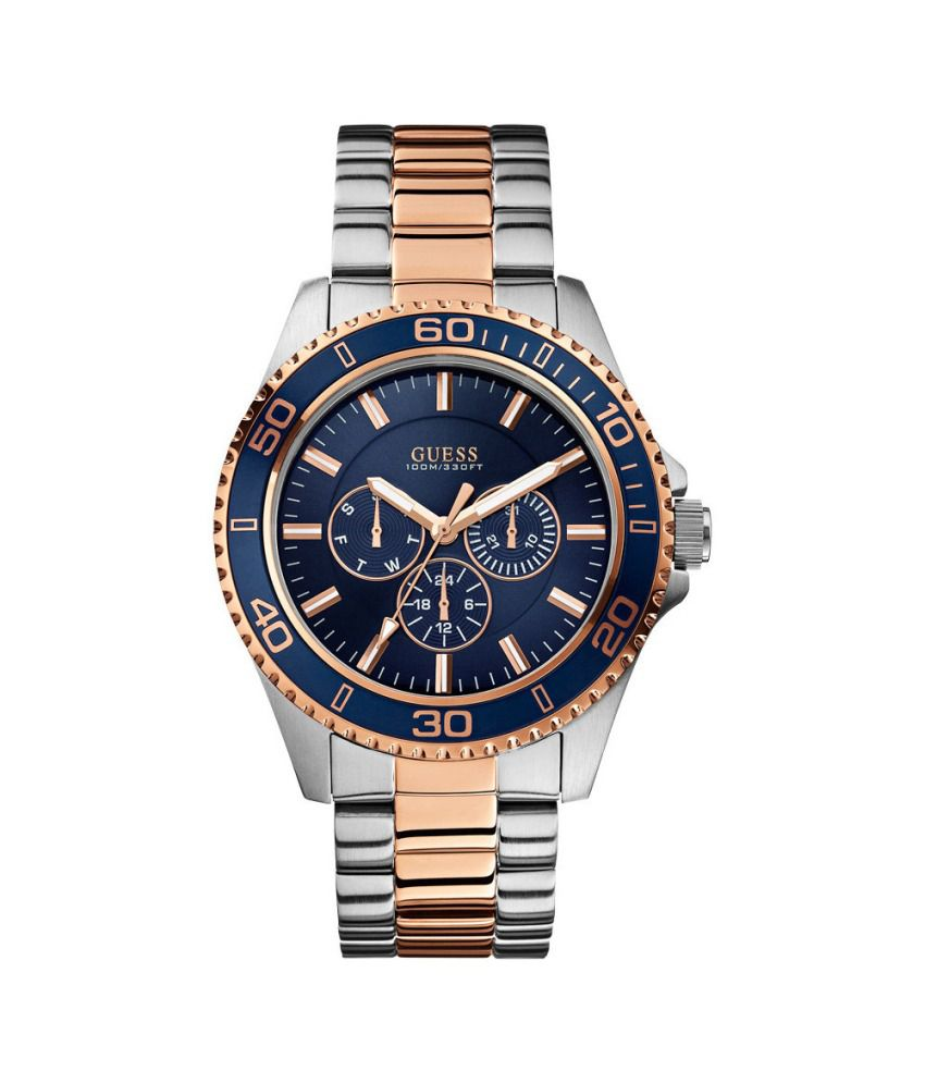 guess blue analog chronograph round watch for men w0172g3 buy guess blue analog chronograph round watch for men w0172g3