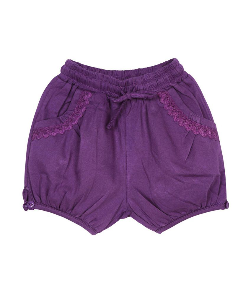 Oye Blue Cotton Solids Shorts