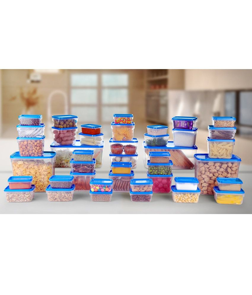 ... All Time Polka Kitchen Containers Set Of 42 Pcs (Blue)