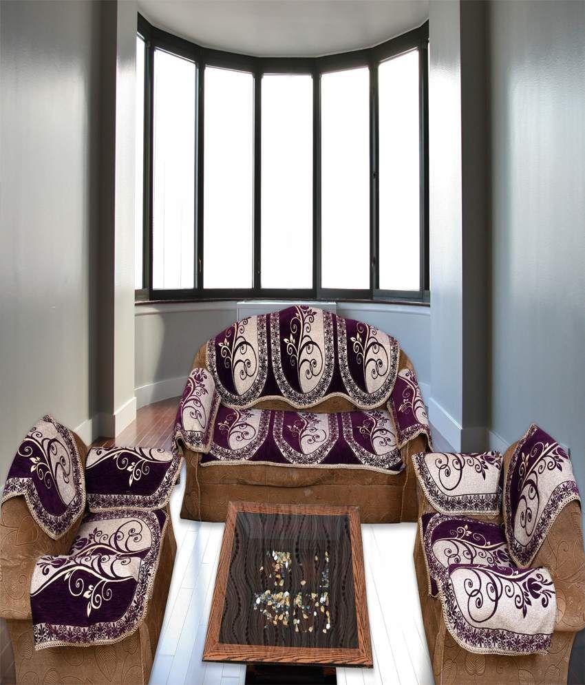 Bhavya Purple Sofa Cover Buy Bhavya Purple Sofa Cover