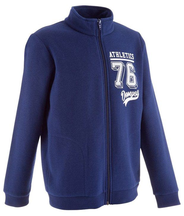 Domyos Blue Warmy Fitness Jacket for Boys