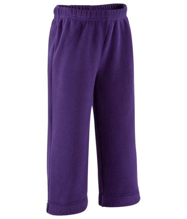 Domyos Purple Baby Fleece Fitness Bottoms for Girls