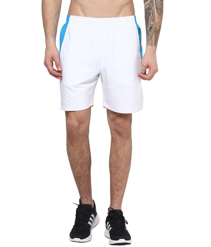 Aurro Sports White Victory Shorts