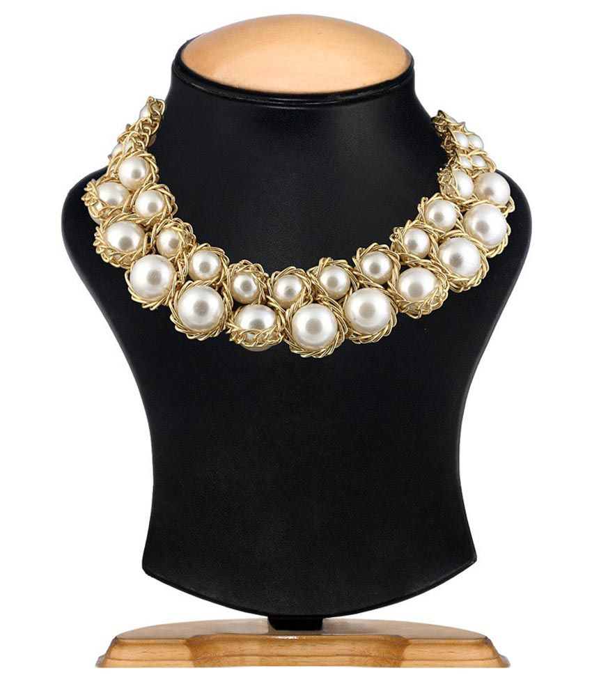 Renaissance Traders White Contemporary Alloy Necklace