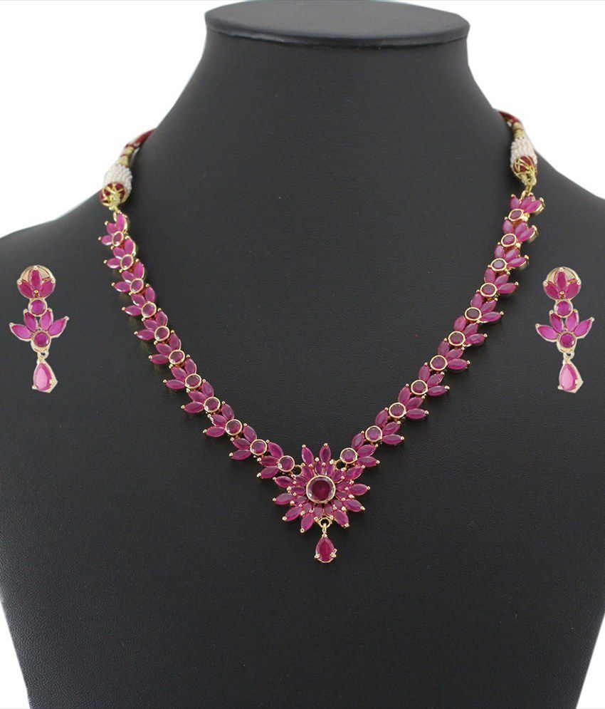 Artificial Bridal Jewellery Sets: 925 Silver Artificial Bridal Necklace Jewelry Set For