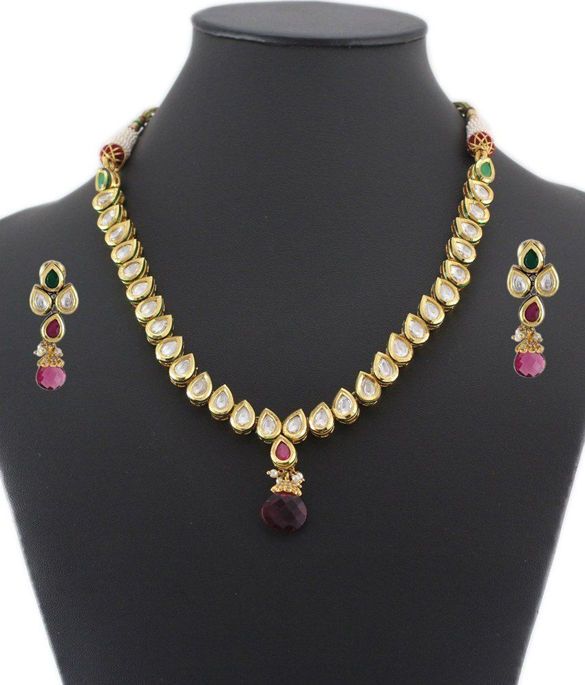 Artificial Jewellery Sets For Wedding: 925 Silver Elegant Artificial Bridal Necklace Jewelry Set