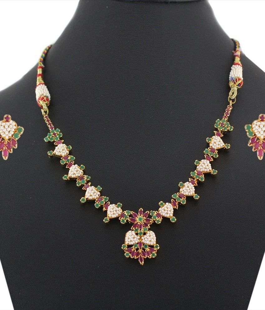 Artificial Bridal Jewellery Sets: 925 Silver Stylish Artificial Bridal Necklace Jewelry Set