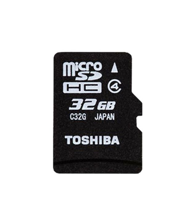 toshiba 32 gb micro sd card memory cards online at low. Black Bedroom Furniture Sets. Home Design Ideas