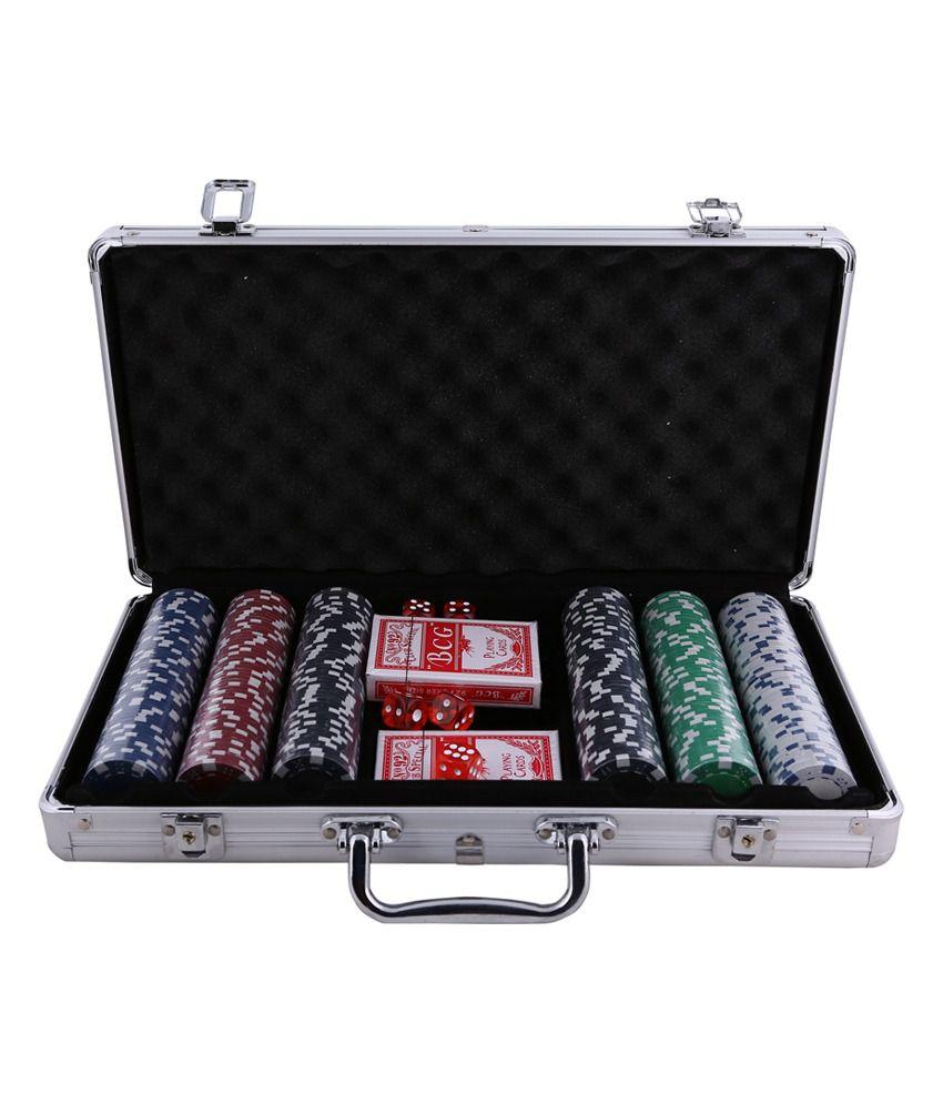 Gambling 300 Pieces Poker Set Casino Chips Card Games