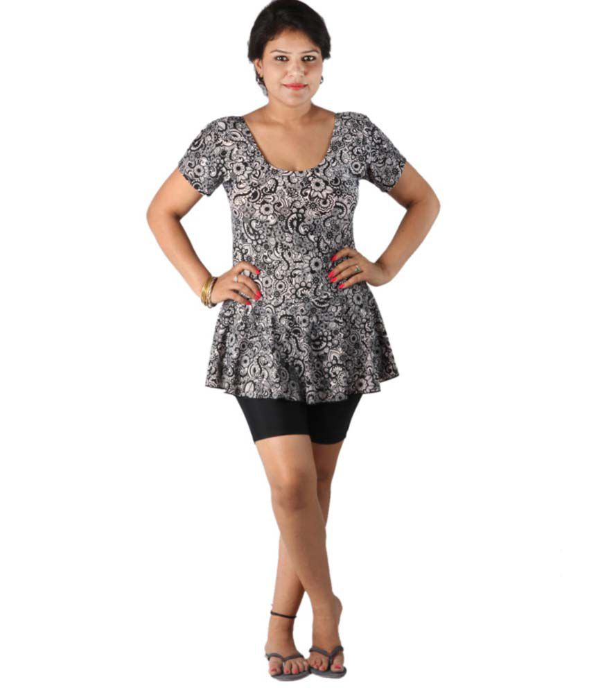 Indraprastha Printed Swimsuit With Shorts