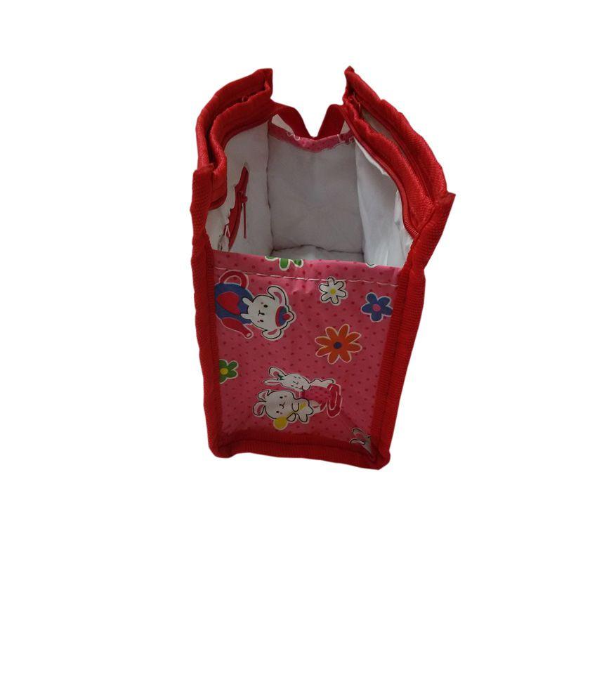 KitsandPouches Pink Plastic And Tissue Best Friend Travel Kit