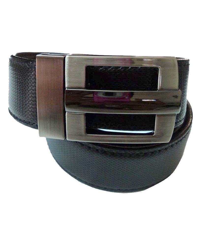 Mode Dynamic Leather Casual Black Pin Buckle Belt For Men