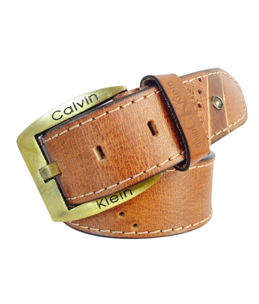 Cowboy Brown Leather Belt