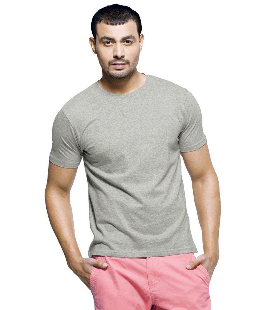 Glam Walk Gray Cotton T Shirt