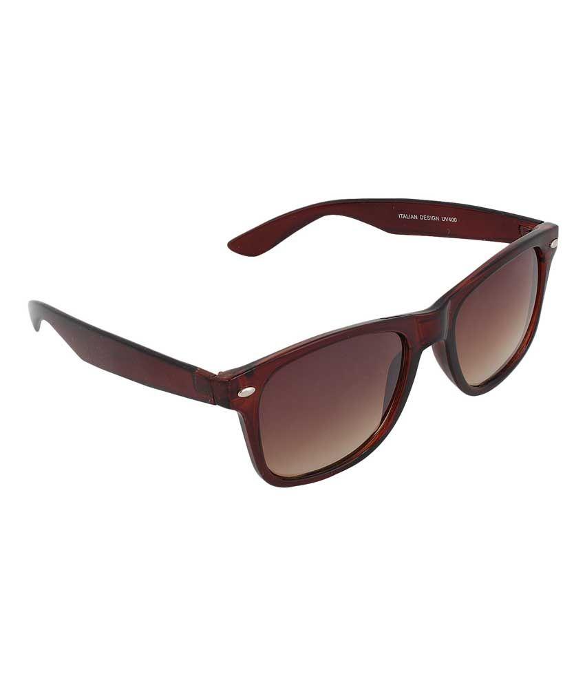 Mount Track WF-UV_12 Brown Wayfarer Medium Sunglasses