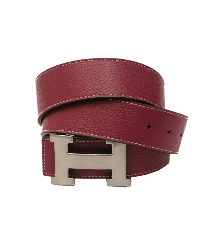 High Quality Pink Leather Casual Belt