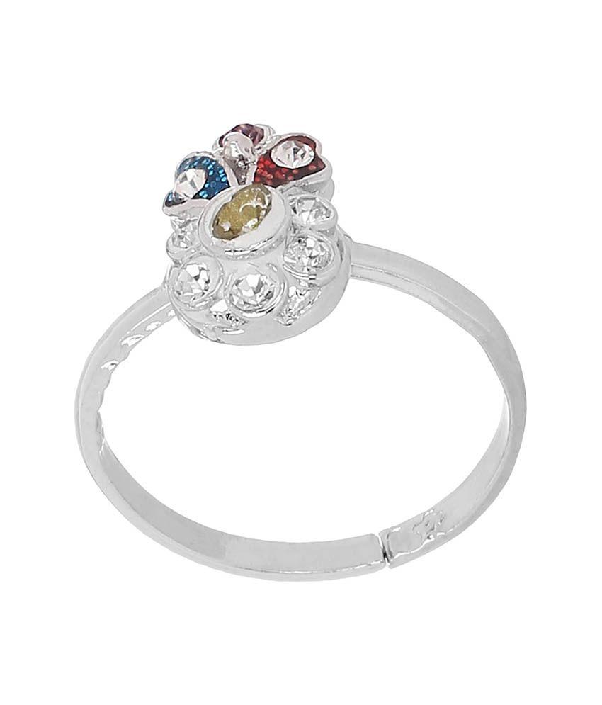 Silver Kartz German Silver Style Diva Toe-ring