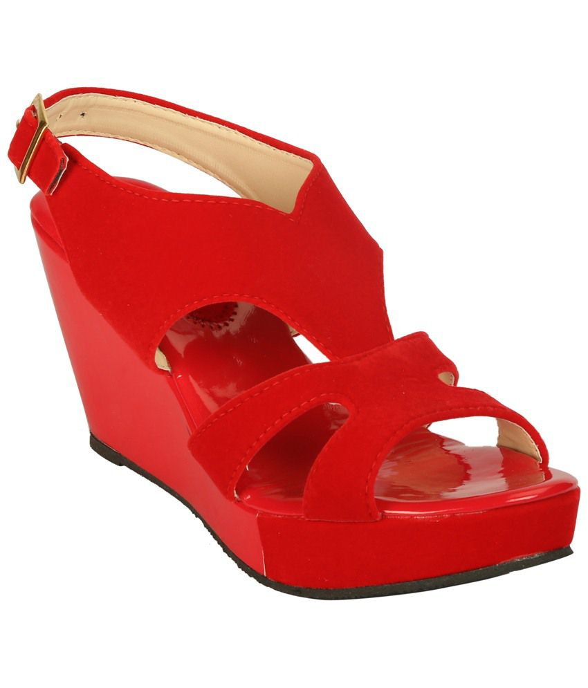 29fb32304dc Zachho Adorable Red Wedge Sandals Price in India- Buy Zachho Adorable Red  Wedge Sandals Online at Snapdeal