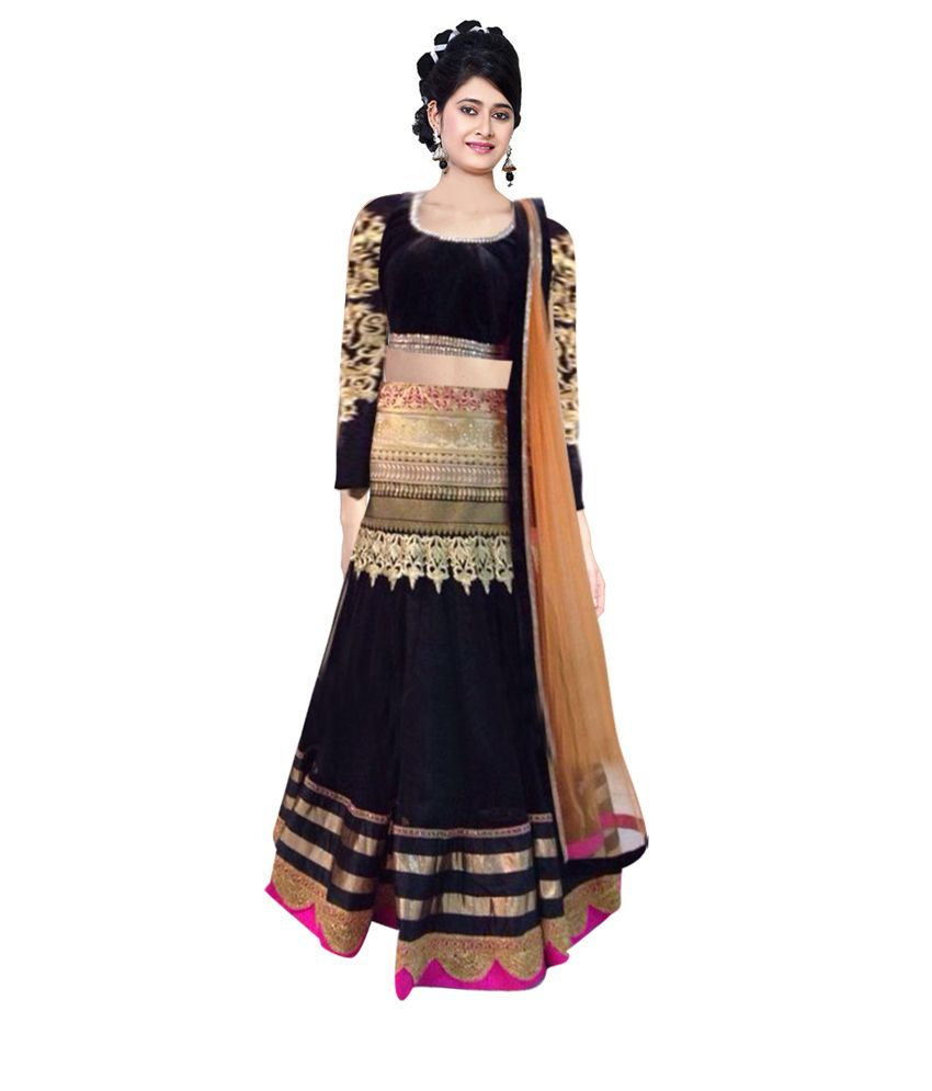 Indian Designer Multi Color Net Embroidered Semi Stitched