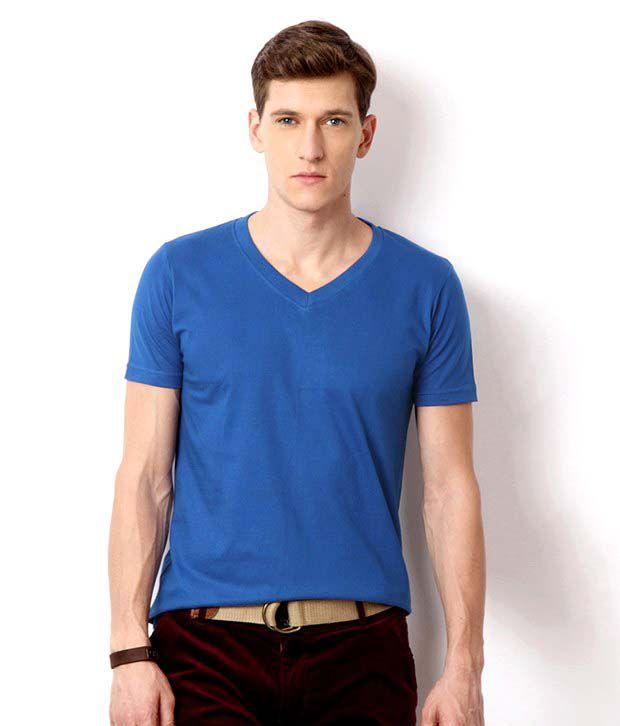 Neo Blue Cotton Basics T-Shirt