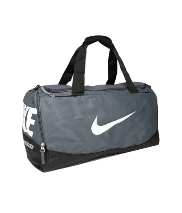 Nike Team Training Max Air Medium Duffle Bag Gray Duffle Bag - Buy ... 6ca92e1b27a7a