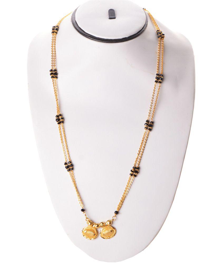 ccdf3e4954808 Zakasdeals Black Beads Chain Wati Long Mangalsutra: Buy Zakasdeals ...