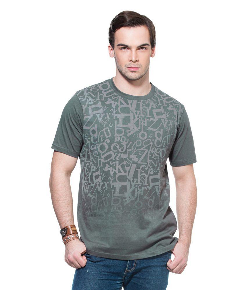 Zovi Fading Alphabets Gray Graphic T-Shirt
